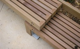 Outdoors Wooden Bench