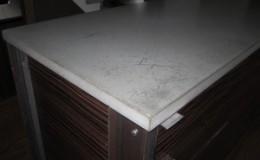 Concrete and Steel Kitchen Island