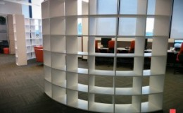 Curved Open Bookcases