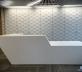 Corian Glacier White Reception Desk
