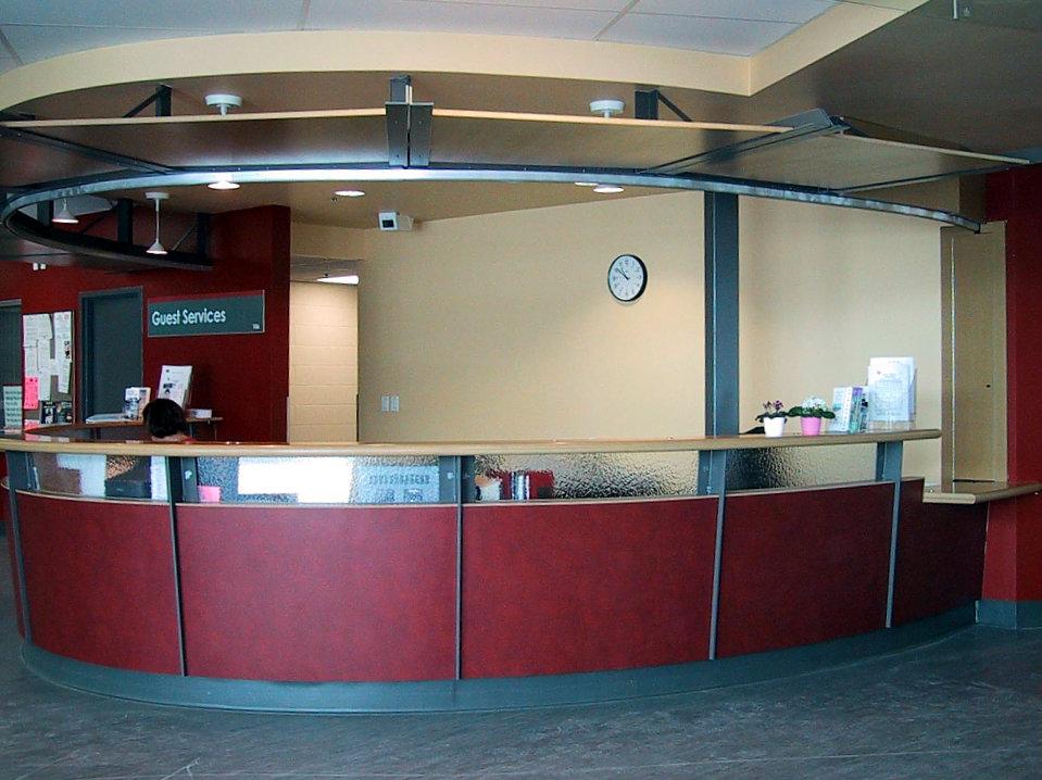 Circular Reception Desk Wills 235 Ns Architectural Millwork
