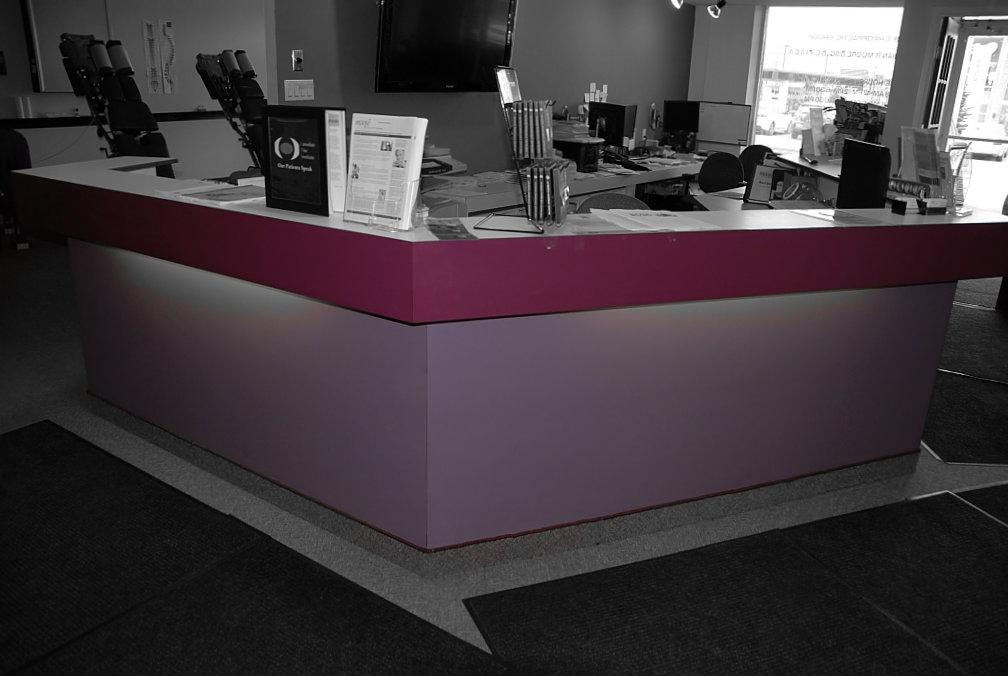 Mauve Reception Desk