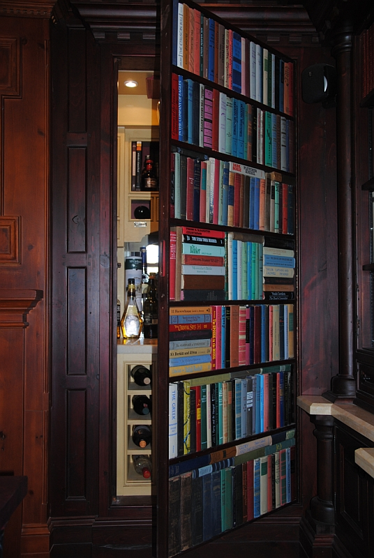 Hidden Bar Bookcase | Willsëns Architectural Millwork ...