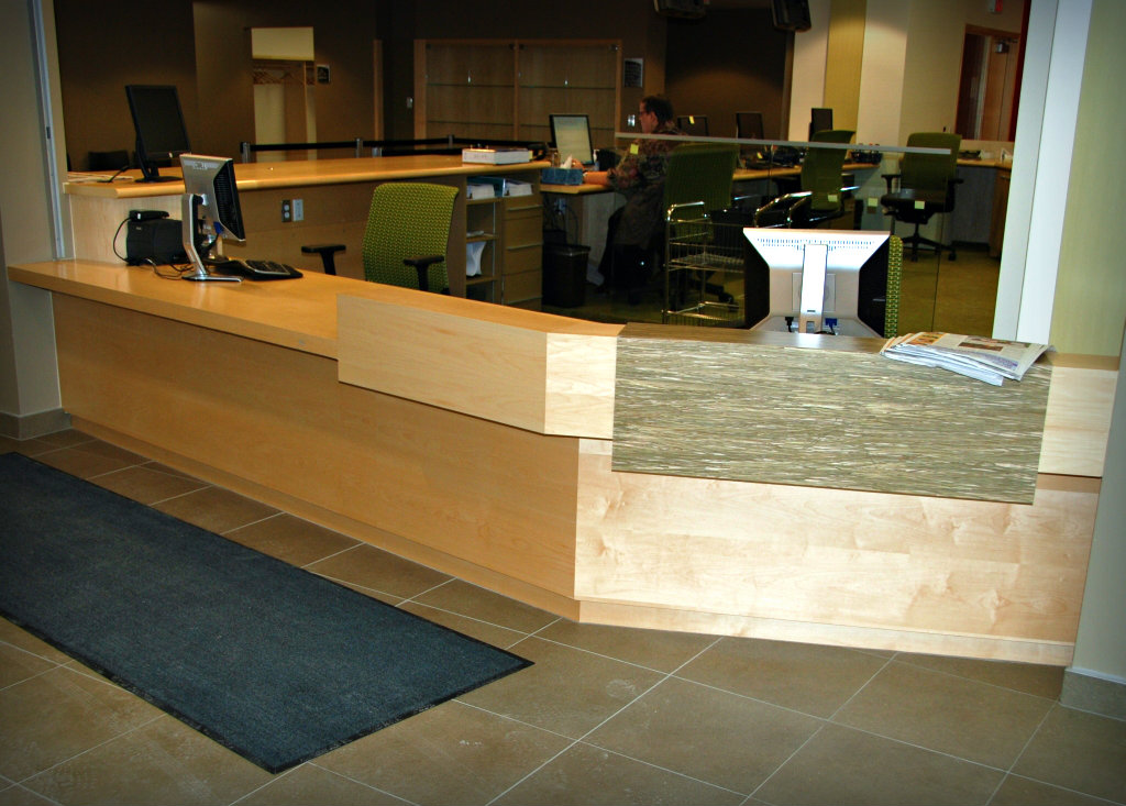 Reception Desks Wills 235 Ns Fine Cabinetry Aurora On