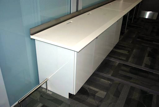 High Gloss Laminate Credenza