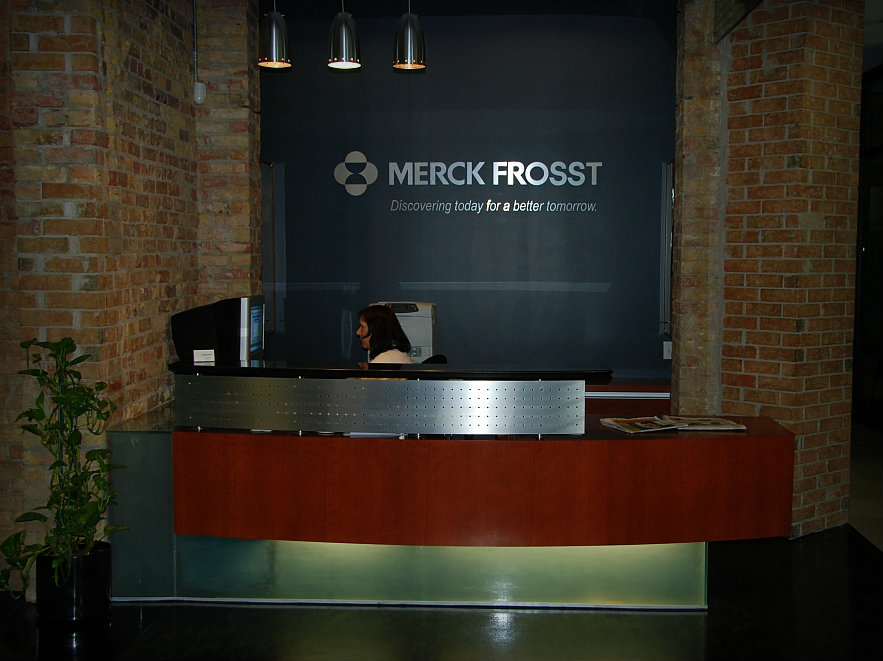 Merck Frosst Reception Desk