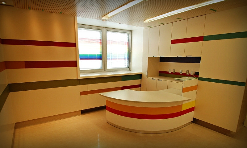 Desk, Wall Panes, Ceiling