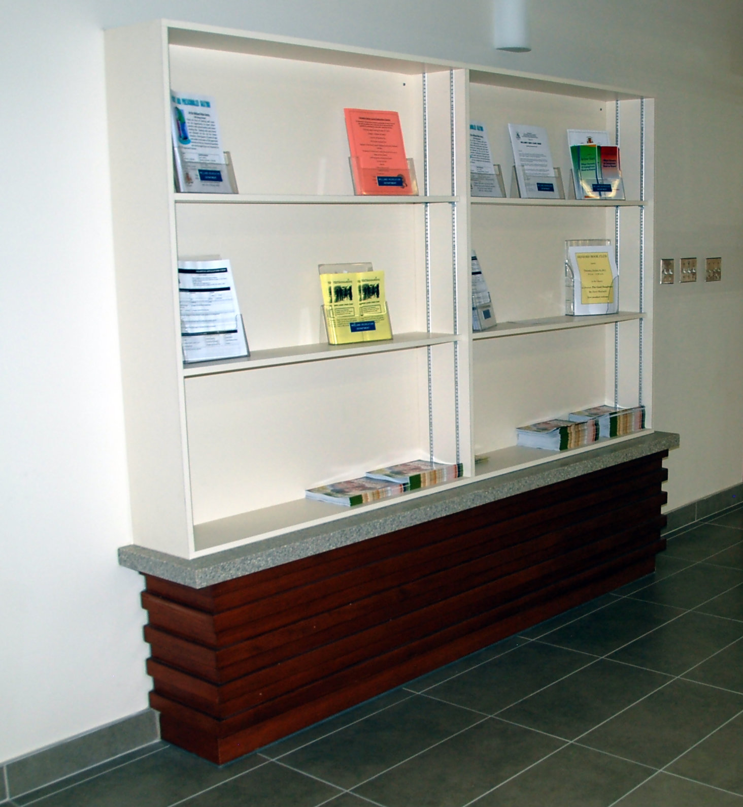 Welland Wellness Centre Corridor Display Case
