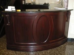 Curved Oak Reception Desk