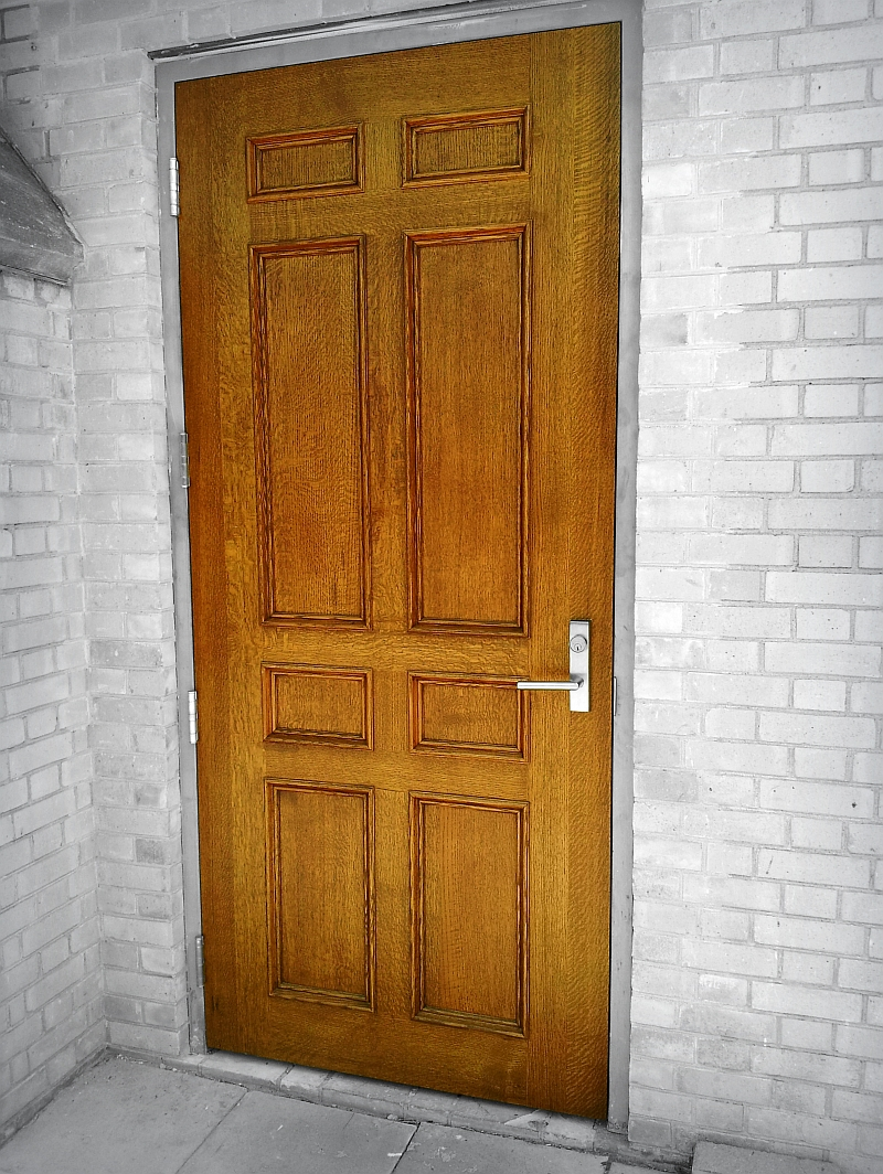 Exterior Plain Wood Doors
