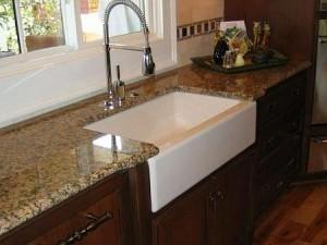 Granite Countertop with Farmers Sink