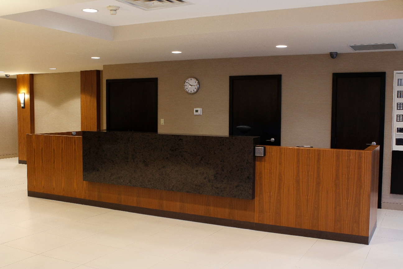 Commercial Reception Desks Wills 235 Ns Architectural Millwork Aurora On