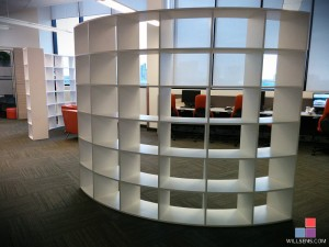 Curved Open Bookcase