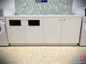 Corian Glacier White Cabinets