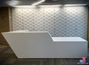 Corian Glacier White Reception Desk