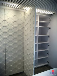 Corian Glacier White Tall Storage