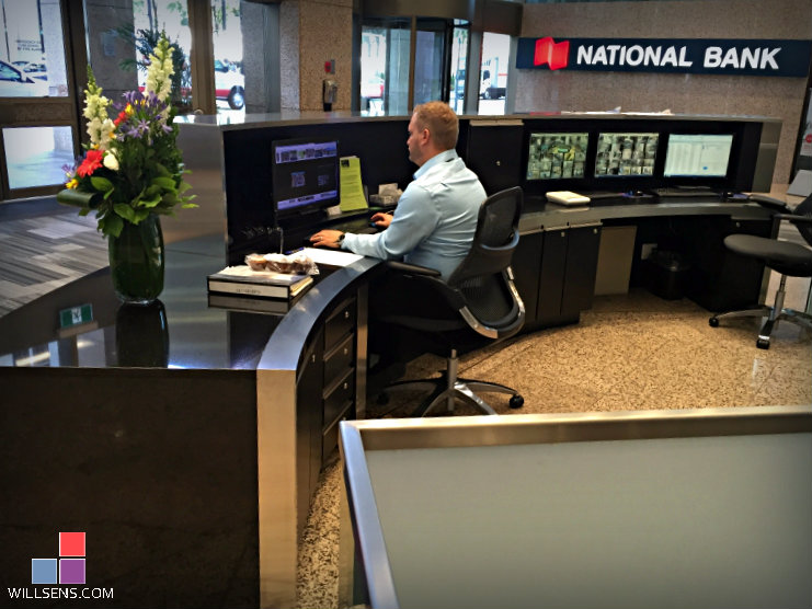 121 King St Reception Security Desk Wills 235 Ns