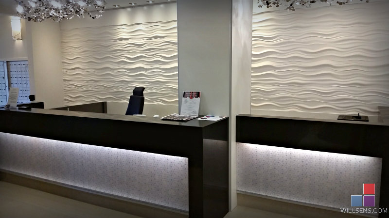 Aquaview Wall Panels And Reception Desk Wills 235 Ns